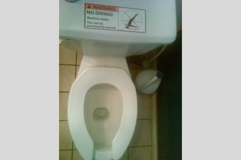 Please Do Not Dive In The Toilet