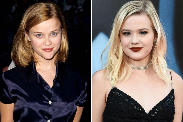 REESE WITHERSPOON & AVA ELIZABETH PHILLIPPE AT AGE 18
