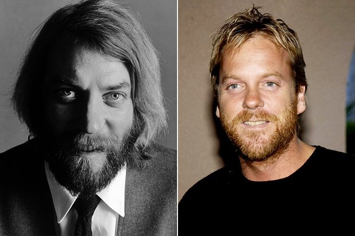 DONALD SUTHERLAND & KIEFER SUTHERLAND AT AGE 35