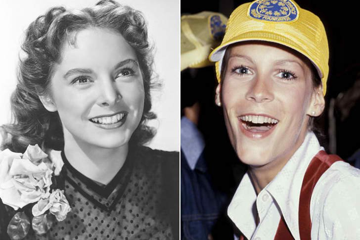 JANET LEIGH & JAMIE LEE CURTIS AT AGE 20