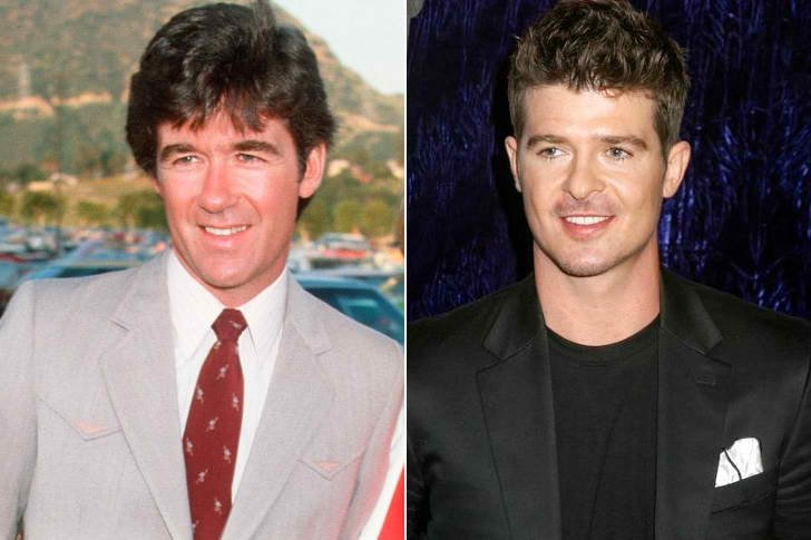 ALAN THICKE & ROBIN THICKE AT AGE 30