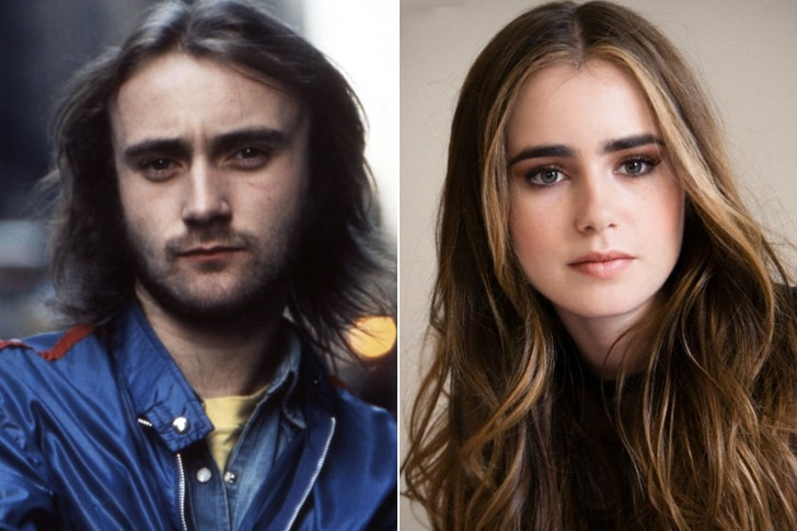 PHIL COLLINS & LILY COLLINS AT AGE 22