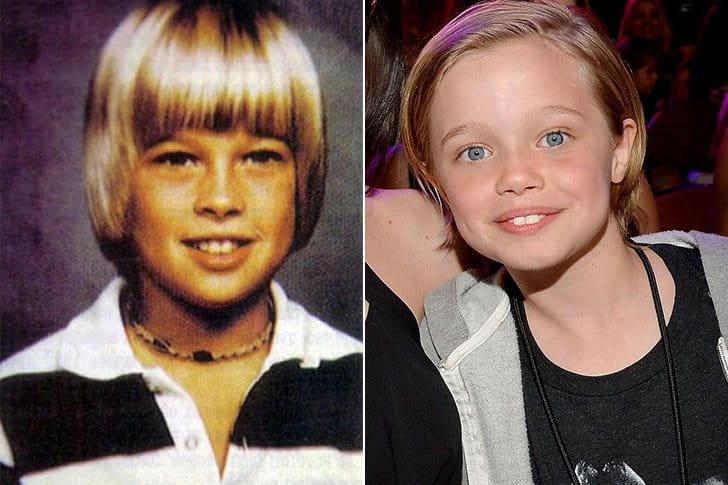 BRAD PITT & SHILOH JOLIE PITT AT AGE 10