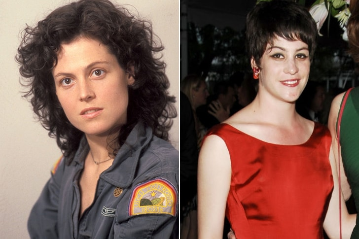 SIGOURNEY WEAVER & CHARLOTTE SIMPSON AT AGE 29