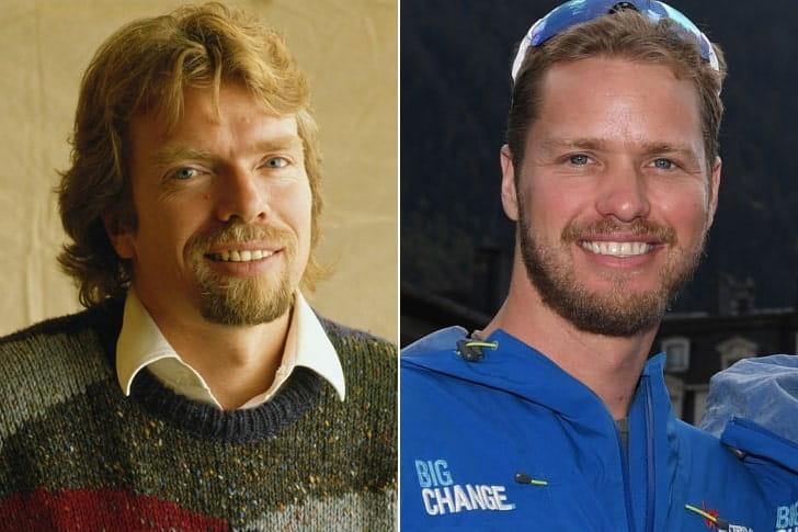 RICHARD BRANSON & SAM BRANSON AT AGE 34