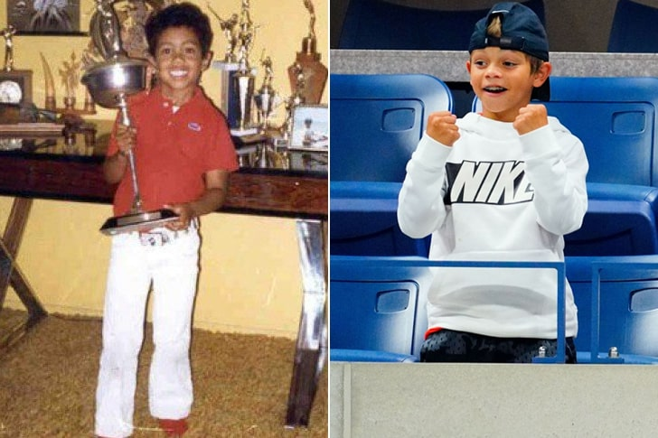 TIGER WOODS & CHARLIE AXEL WOODS AT AGE 10