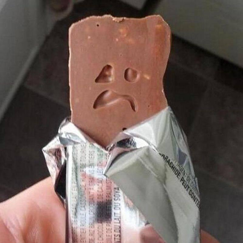 This Bar Of Chocolate Is Sad