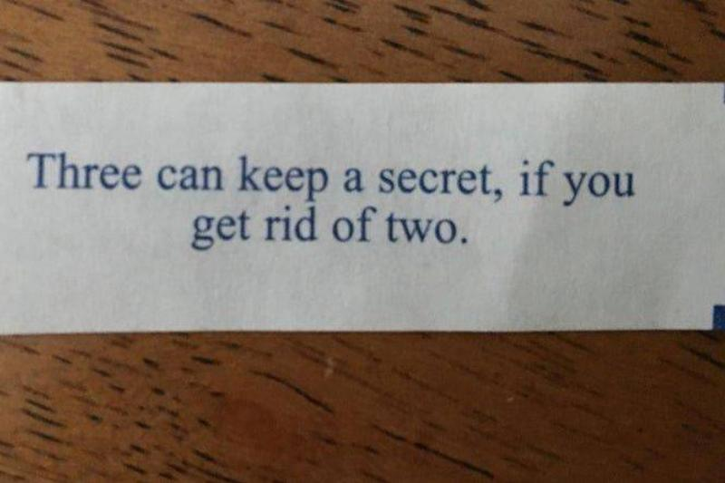 Not An Inspirational Fortune Cookie
