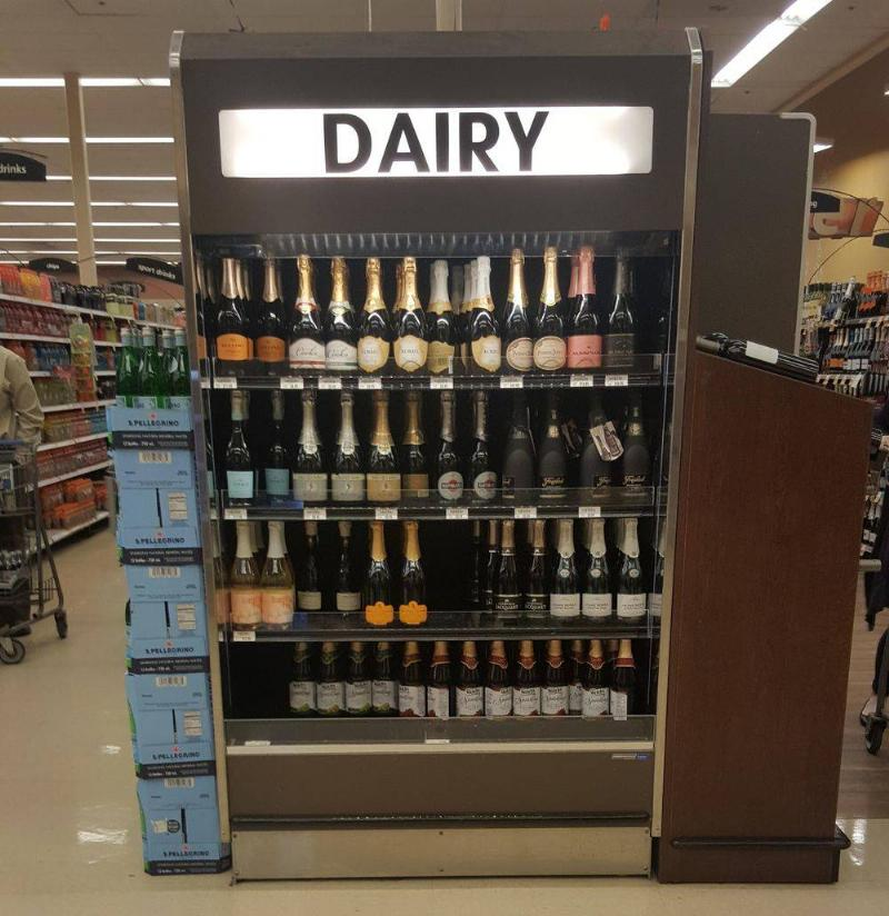 We Are Sure That Wine Is Not Dairy