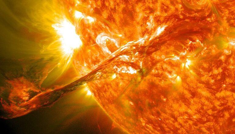 A Solar Flare Strike
