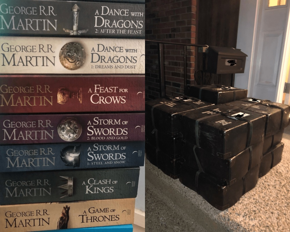 Games Of Thrones Books Vs. Braille Versions