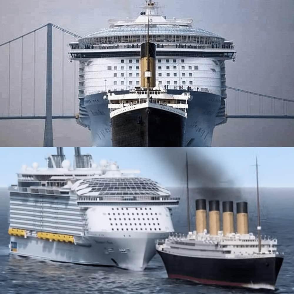 Titanic Vs. Modern Day Cruise Ships