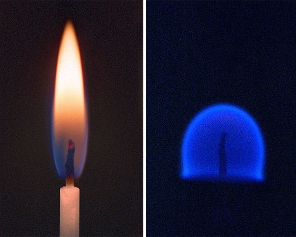 A Candle On Earth Vs. Space