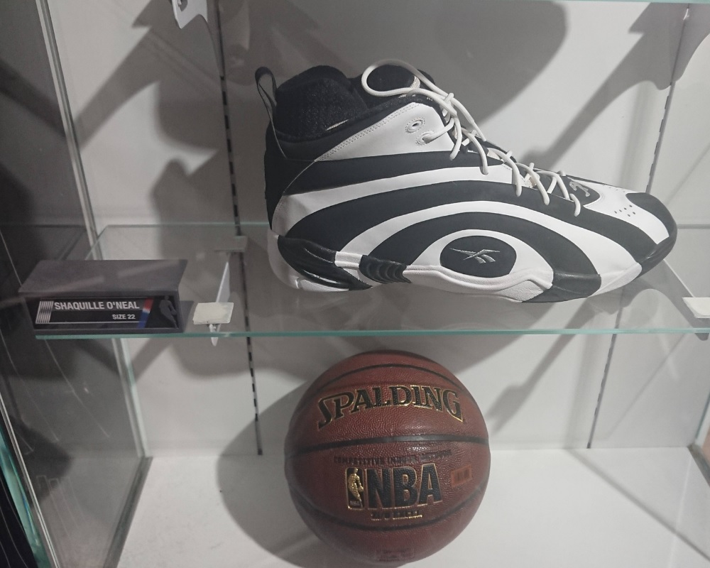 Shaquille O'Neal's Shoe Size Vs. Basketball
