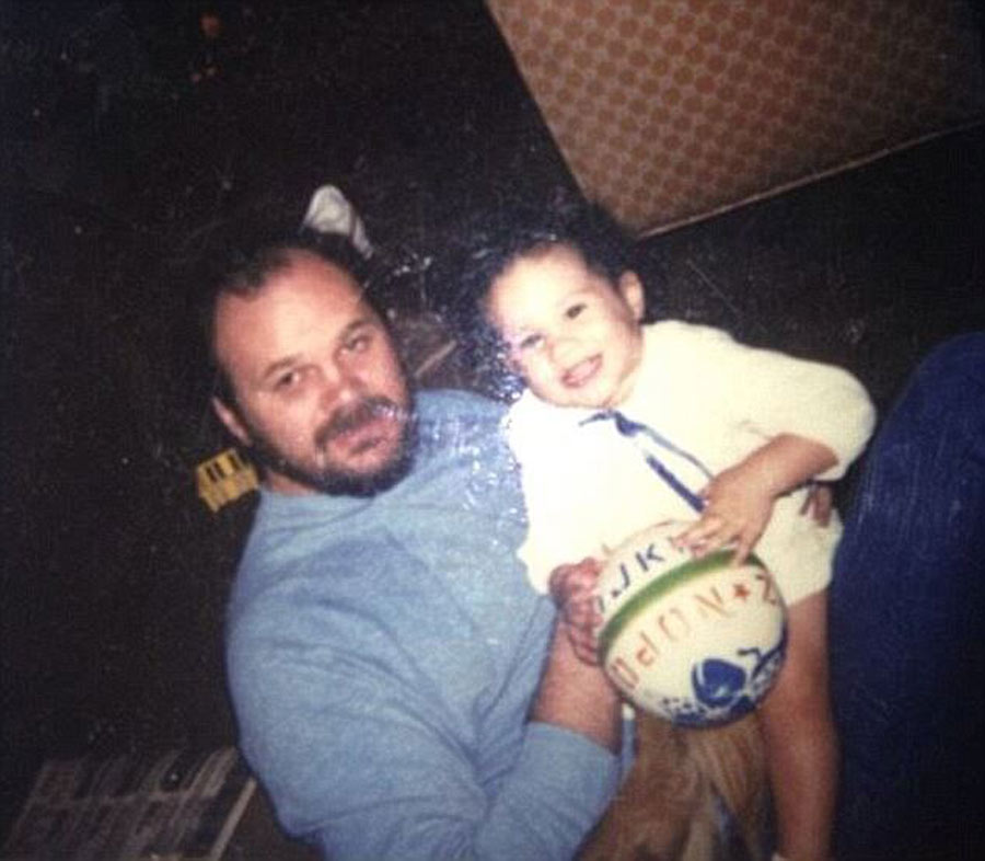 Baby Meghan And Her Father
