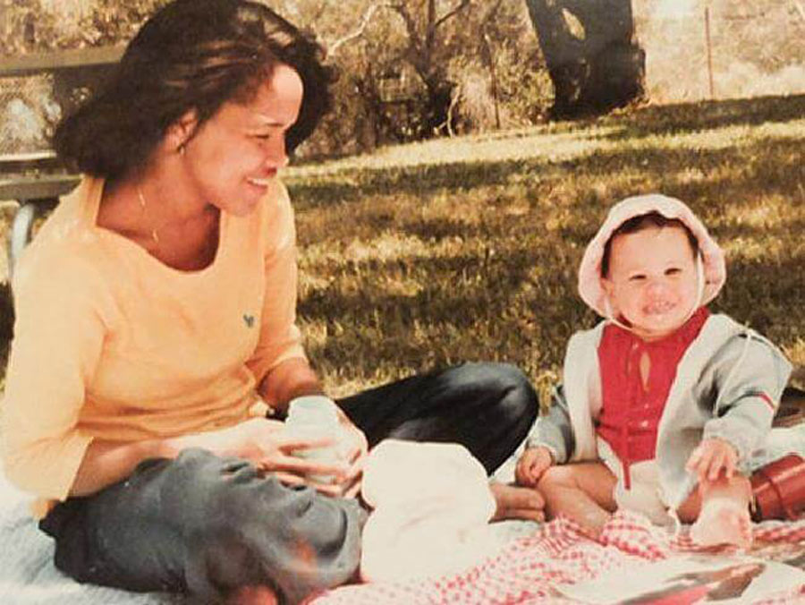 Baby Meghan On A Picnic With Her Mom
