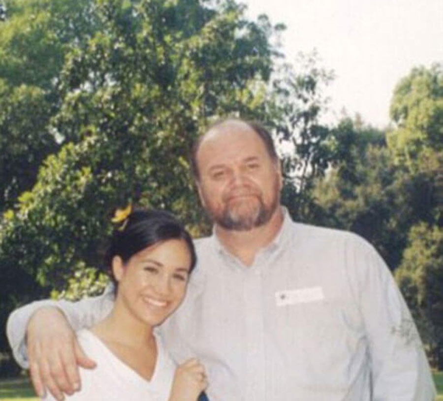 A Lovely Photo With Her Father