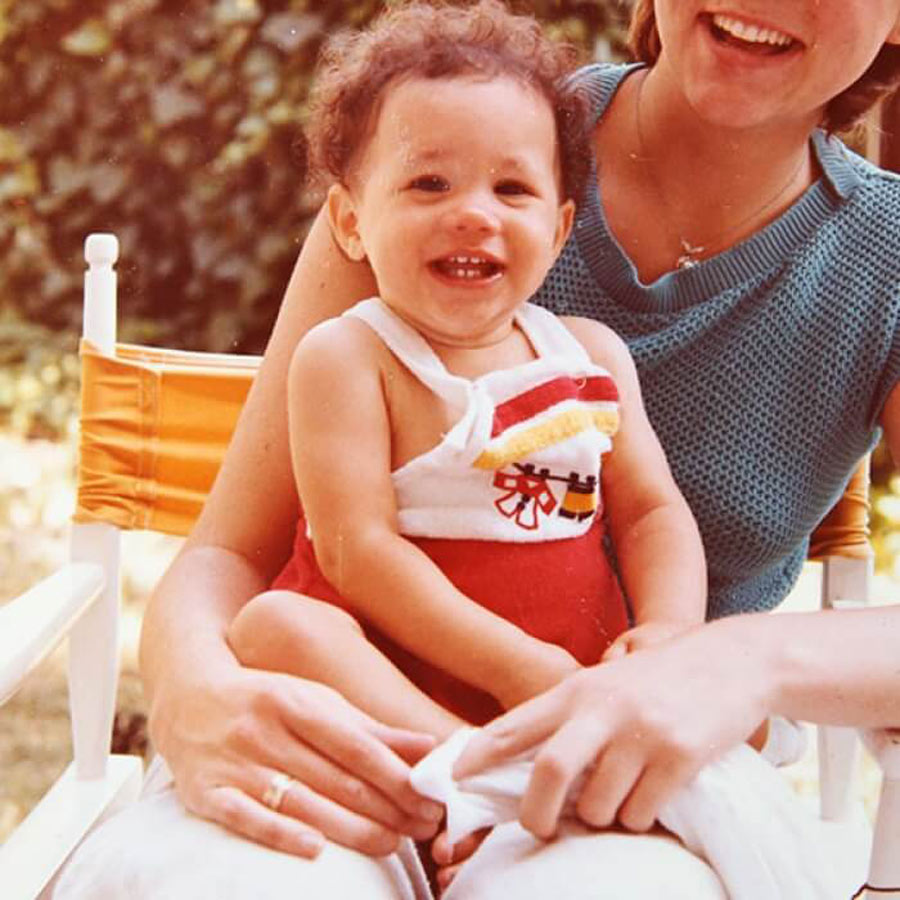 Baby Meghan Sitting On The Lap Of Her Sister