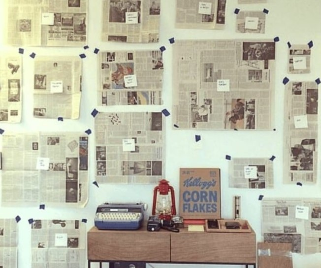 Make Mock Ups With The Use Of Old Newspaper