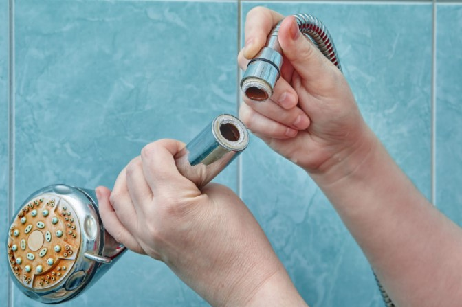 Vinegar Is Ideal For Cleaning The Shower Heads