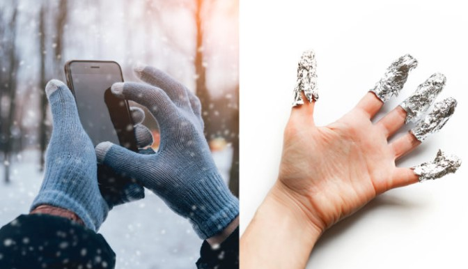 Use Your Phone With Gloves On By Using Tin Foil