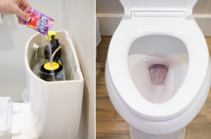 Check For Toilet Leaks With A Kool Aid Sachet