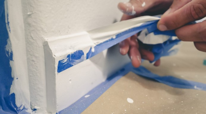 Tape Is Going To Help You Make A Straight Caulk Edge