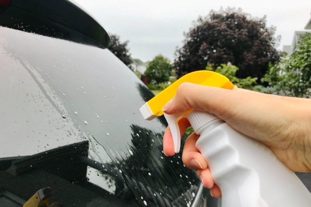 Wash Car Windows
