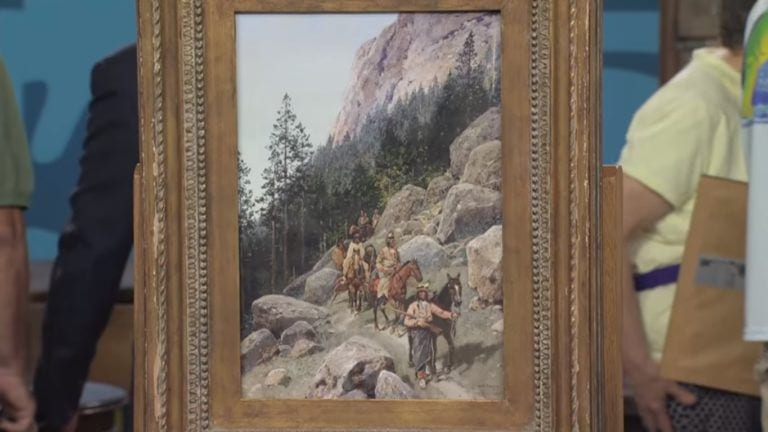 A Painting Of A Sioux Tribe