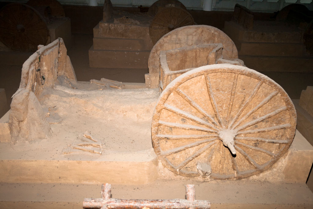 Chariot In Chariot Pit From The Shang Dynasty